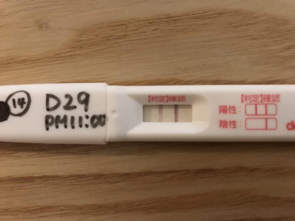 生理予定日前日の妊娠検査薬
