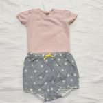 H&Mで手に入れた女の子用のベビー服!セールでお得に購入したよ