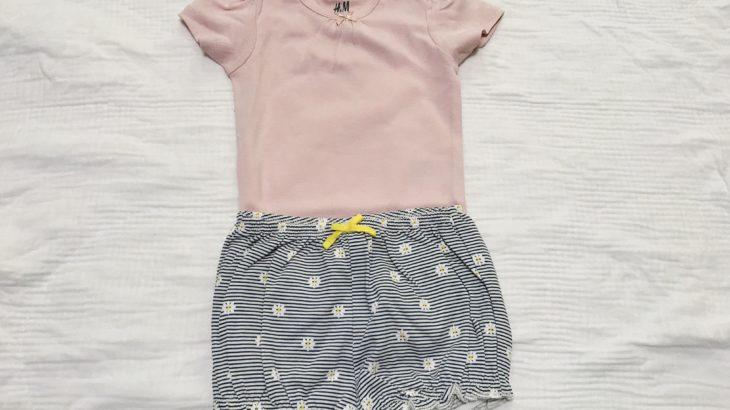 H&Mで手に入れた女の子夏物ベビー服!セールでお得に購入したよ