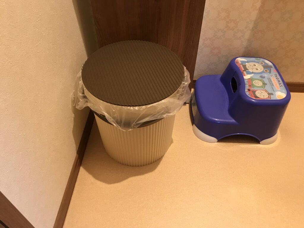 オムニウッティでおむつ用バケツをトイレに!