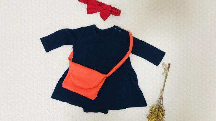 可愛い女の子赤ちゃんのハロウィン衣装はキキで決まり!購入品と手作りバッグ